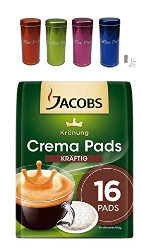 Jacobs Krönung Pads Kräftig+ Metallic Box passend für Senseo und weitern Kaffeepadsmarken 4 Farben sortiert für den Muttertag