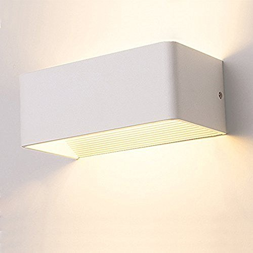Louvra applique da parete interni lampada a muro applique led moderne in metallo 7w per decorazione soggiorno camera da letto bagno colore bianco caldo