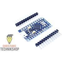 Pro Micro | Entwicklerboard für Arduino IDE | ATMEL ATmega32U4 AVR Mikrocontroller | 5V/16MHz | Christians Technikshop