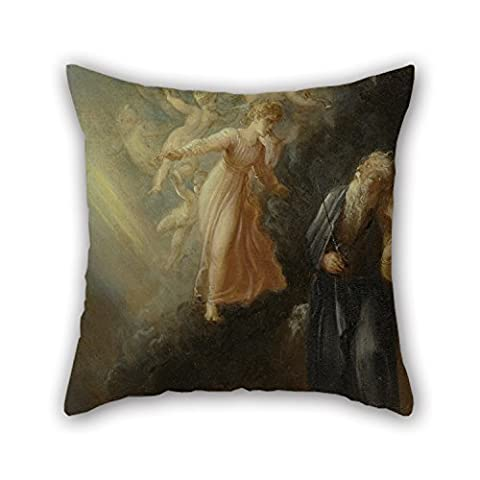 Beautifulseason 18 X 18 Inches / 45 By 45 Cm Oil Painting Thomas Stothard - Prospero, Miranda And Ariel, From 'The Tempest,' Act I, Scene Ii Pillow Covers ,twice Sides Ornament And Gift To
