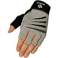 Preisvergleich für Bionic Glove Herren Crosstraining Fingerlose Handschuhe W/für Technologie, grau/orange (Paar)