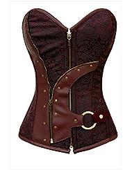 PULABO dessous corset vintage style steampunk bustier style gothique punk top lacets