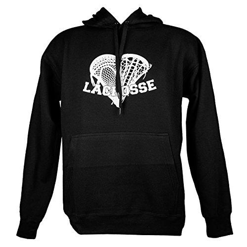 Captain LAX Lacrosse Head Heart Hoodie Schwarz
