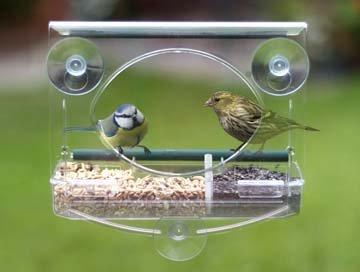 fenster vogelhaus Meripac Vogelfutterstelle fürs Fenster