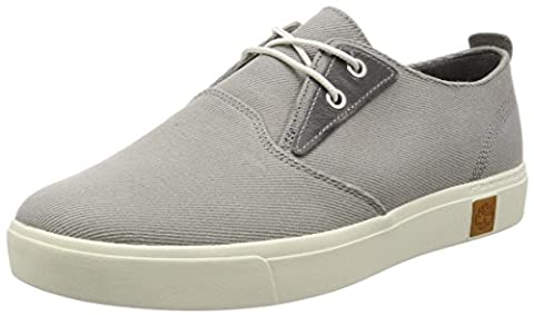 Timberland Men's Amherst Ptosteeple Grey Cotton Canvas Oxford, Steeple Grey Cotton Canvas, 11.5 UK