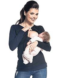 Zeta Ville - Premamá top de lactancia a capas cuello redondo - para mujer - 588c