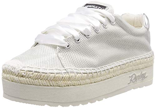 Replay Damen TREVIE Espadrilles Weiß (White 61) 37 EU
