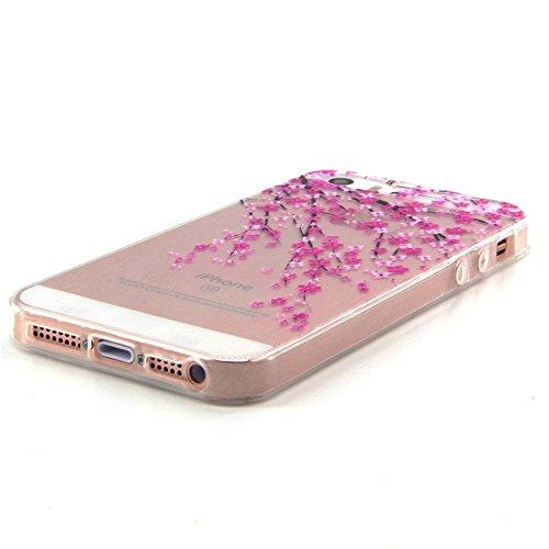 Voguecase® Per Apple iPhone 6/6s 4.7, Custodia Silicone Morbido Flessibile TPU Custodia Case Cover Protettivo Skin Caso (Macaron ragazza) Con Stilo Penna pesca fiore 03