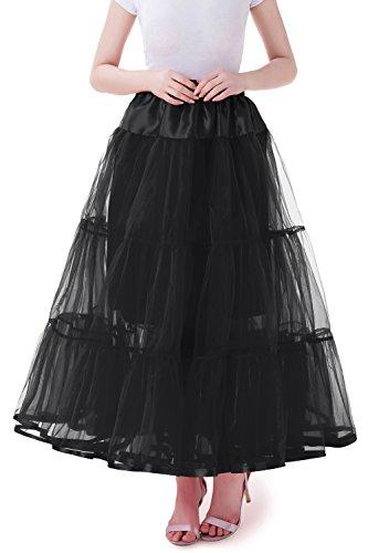 Tsygirls 1950's Petticoat Reifrock Unter Rock Unterrock Röcke Underskirt Crinoline Vintage Swing Oktoberfest Kleid Schwarz Größe L-XL
