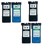 5 Druckerpatronen für Lexmark X3430, X3500, X3530, X3550, X4500, X4530, X4550, Z1400, Z1410, Z1420, Z1450 | kompatibel zu Lexmark 23 & 24