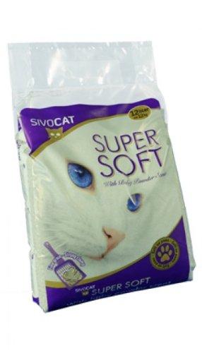 SivoCat 123002 Katzenstreu Sivo Soft plus Babypuderduft, 12 L