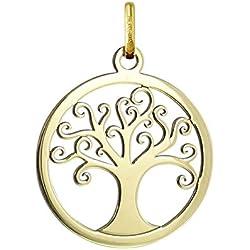 MÉDAILLE ARBRE DE VIE - Médaille Ajourée - Or 18 carat - Hauteur: 20 mm - www.diamants-perles.com