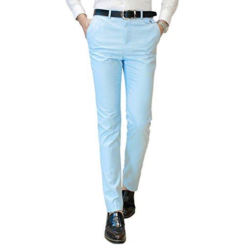 YOUTHUP -  Pantaloni da abito  - Attillata  - Uomo Light Blue