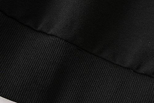 Femmes Sweatshirt, Kingwo Lâche Dames Lettre Imprimer Manche longue Pullover Blouse Noir 04
