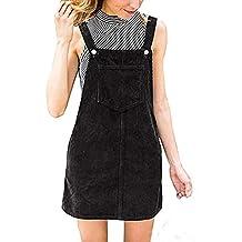 Vestido Peto Corta para Mujer Primavera Invierno fe163fc61a38