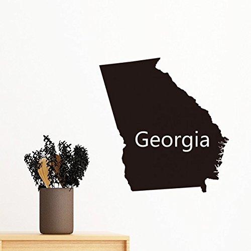 DIYthinker Georgia der Vereinigten Staaten von Amerika USA Karte Silhouette entfernbarer Wand-Aufkleber-Kunst-Abziehbilder Wand-DIY Tapete für Zimmer Aufkleber 40cm - Usa-wand-kunst Der Karte