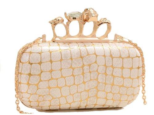 Mesdames nouvelle soirée de conception d'embrayage sac porte-fusée de chiffon par la lingerie Aimerfeel Ivoire