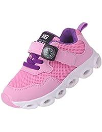 K-youth® Zapatos LED Niños Niñas Zapatillas con Luces Para Niñas Zapatillas Niño Zapatos Zapatillas Para Bebés Zapatillas de Deporte Transpirables Antideslizante Para Niña Niño