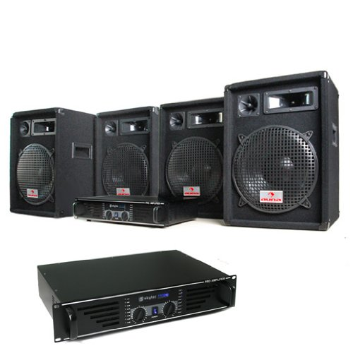Elektronik-Star DJ PA Komplettset Marrakesch Lounge Pro (2X 480W PA Verstärker, 4X 400W Boxen)