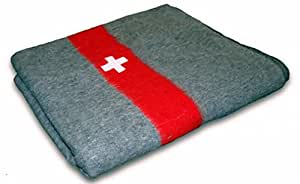 Couverture en laine Swiss Army Militaire Style Neuf