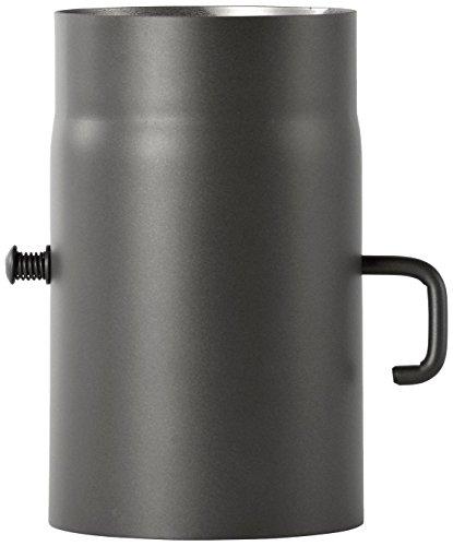 Bertrams 1965162 Ofenrohr 2mm 25cm mit Drosselklappe Senotherm UHT-Hydro lackiert gussgrau, durchmesser 150mm