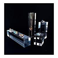 Clear Acrylic Premium Grade Jewellery Art Display Stands Store Trade Show Exhibition (4PC Blocks)