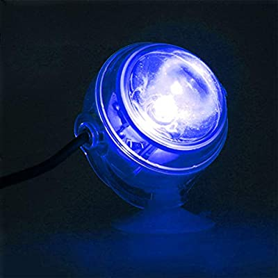 WOVELOT Lampe sous-Marine a LED Lumiere d'aquarium Etanche a Prise UE 110V 220V LED pour Corail Recif Aquarium Lumiere d'aquarium Submersible Lampe projecteur Bleu