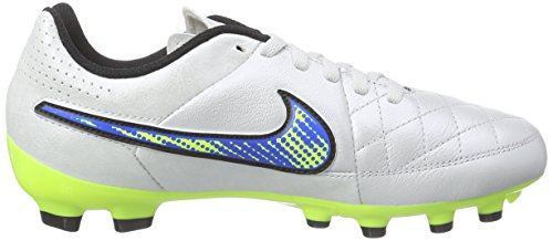 Nike Tiempo Genio Leather FG Mixte Enfant Chaussures de Football Blanc