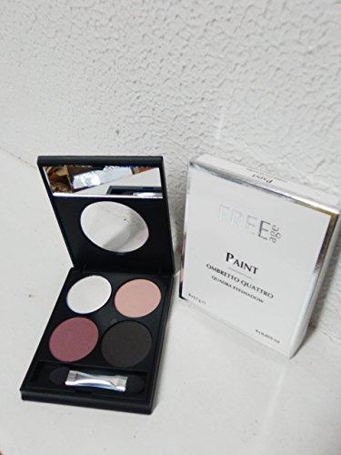 Augenschminke kompakte 4 Farben - PAINT - Quadra Eyeshadow FREEAGE - 02N
