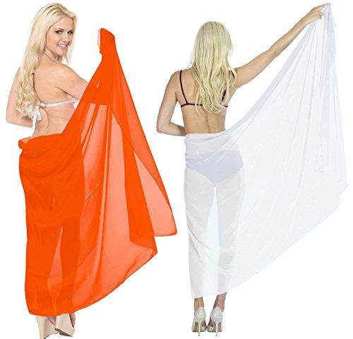 La Leela Beachwear Swimsuit 2 Pack Sarong Ladies Bikini Cover up Women Swimwear Resort Wrap Plus