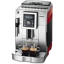 DeLonghi ECAM 23420 SR - Cafetera de espresso con batidor de leche para cappuccinos, color gris/rojo [importado de Alemania]