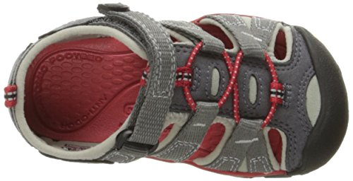 KEEN SEACAMP II CNX junior Sandal Gris (Magnet/racing Red)