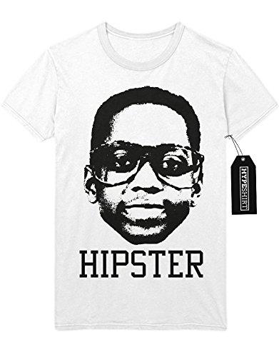 T-Shirt Steve Urkel Hipster Nerd Alle Unter Einem Dach Family Matters H989915 Weiß