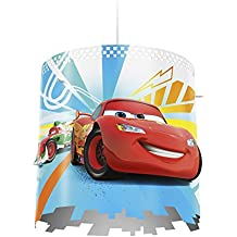 Philips Disney Cars - Pantalla para lámpara colgante, bombilla no incluida, color blanco