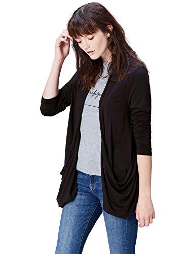 Find. drawstring back  cardigan donna, nero (black), 44 (taglia produttore: medium)