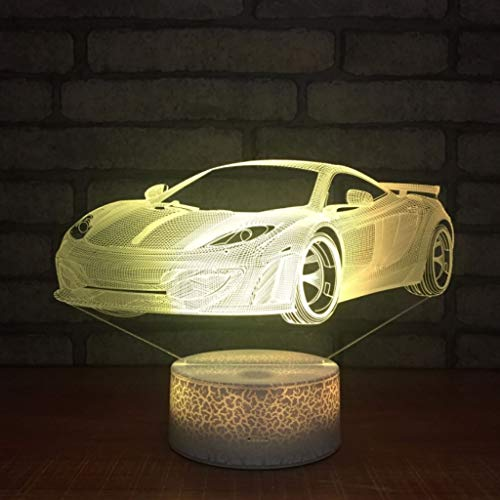 Veilleuses LED, 3D Slide 7 Changement De Couleur Acrylique Art Lampe De Table Touch Control USB Chargeur Décoratif Lumière Jouet Cadeau De Vacances