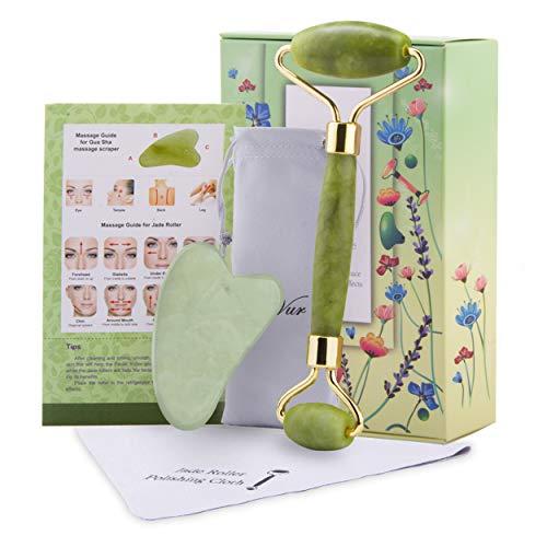 Rodillo de jade para masajeador facial
