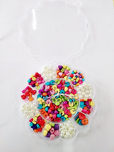 Gold Leaf Multicolor Jewelry Bead DIY Toy for Girls Handmade Jewellery Making Kit Necklace Bracelet Children Fashion Accessories
