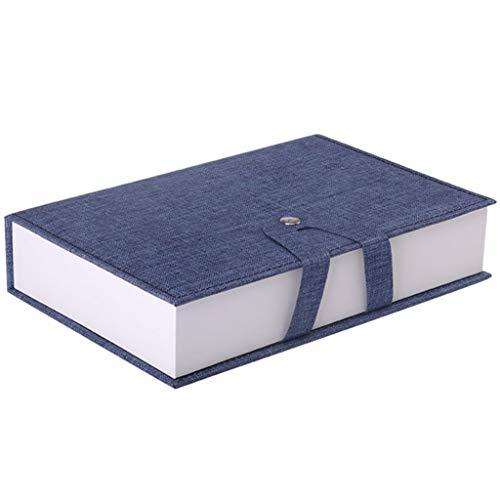 Aufbewahrungsbox Gläser, Chshe??Tragbare Sammelbox Förmigen Anzeige Buch 4 Gläser, Platzsparend, Goggles (Blau)