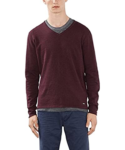 edc by ESPRIT Herren Slim Fit Pullover 996CC2I900, , , , , Gr. X-Large, Rot (BORDEAUX RED 600)