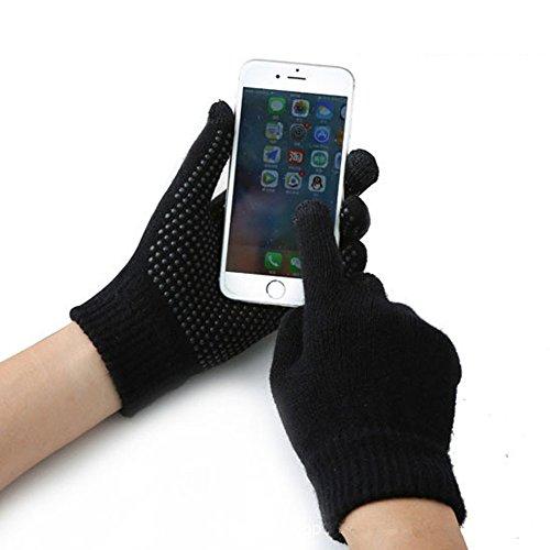Gants d'Hiver Tactile Gants Chauffants En Laine de Cachemire Doux Gants de Sport Antidérapants Gants Pour Vélo/ Cyclisme/ Moto Gants à Écran Tactile Pour Smartphones Tablettes GPS Homme Femm