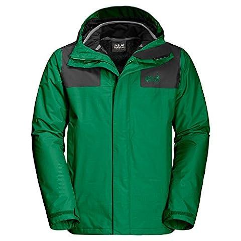 JACK WOLFSKIN Herren 3in1-Jacke ROCKY PASS JACKET, forest green, XXL, 1109591-4082006