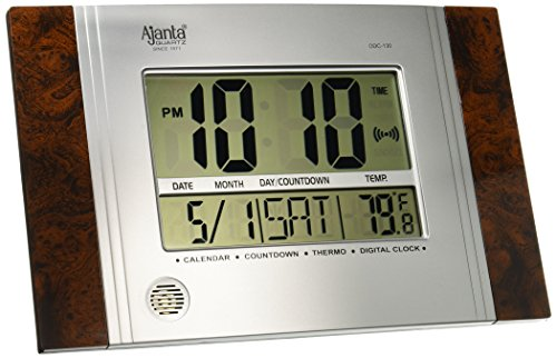 Ajanta Plastic Digital Wall Clock (29 cm x 19 cm x 2.5...