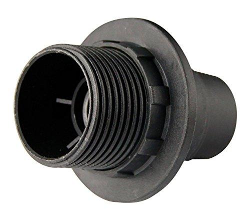Douille E14 Thermoplastique 1 bague Noir