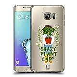 Head Case Designs Irre Pflanzenfrau Froehliche Garten Arbeit Soft Gel Hülle für Samsung Galaxy S6 Edge+ / Plus