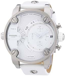 Diesel - DZ7265 - Montre Homme - Quartz Chronographe - Chronomètre/ Aiguilles lumineuses - Bracelet Cuir Blanc
