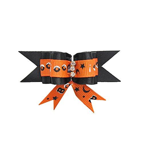 armistore 50PCS Halloween Hund Diamant Fliege Handmade Dress up feiern Grooming Dog langes Haar (Großhandel Haar Bogen)