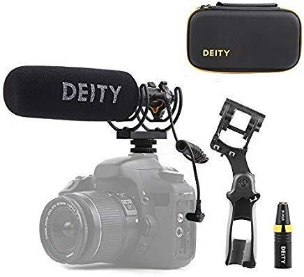 Deity V-Mic D3 Pro Location-Kit Super-Nierenmikrofon mit Rycote Duo-Lyre Shock Mount und Pergear Tuch für DSLRs, Camcorder, Smartphones, Tablets, Handy Recorder, Laptop