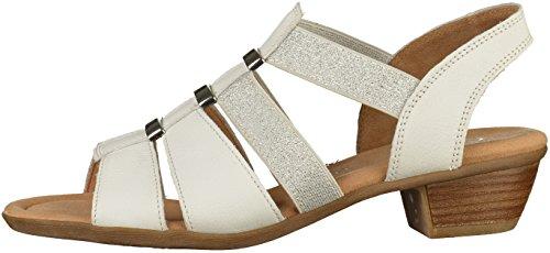Gabor Comfort Sport, Sandali con Cinturino alla Caviglia Donna Bianco (Weiss)