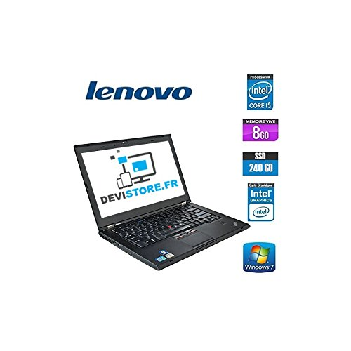 'Lenovo ThinkPad T420 - PC portatile - 14 - nero (Intel Core i5 - 2520 M/2.50 GHz, 8 GB di RAM, HDD 240 GB SSD, Masterizzatore DVD, webcam, Windows 7 Professionale)